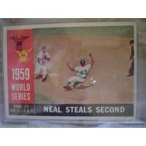 Tarjeta Serie Mundial De 1959 Dogers White Soxs
