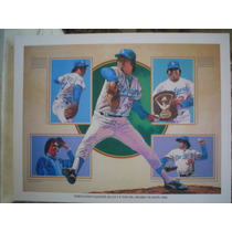 Fernando Valenzuela Y Dodgers16 Postales Miden 30 X 20 Cms