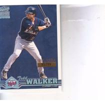 2000 Pacific Paramount Platinum Blue Todd Walker Twins /99