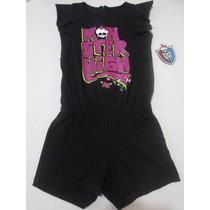 Short Monster High Jumpsuit Jumper Niña 8 10 Y 12 Años Hm4