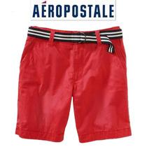 Short 27 Aeropostale Bermuda Rosa Con Cinto Padrisimo Ve!!!!