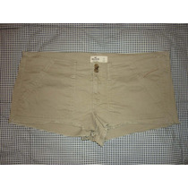 Short Marca Hollister Stretch Color Beige Talla Grande 11