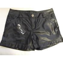 Short Tipo Cuero Negro Piel Grande Glam Rock Punk Dark