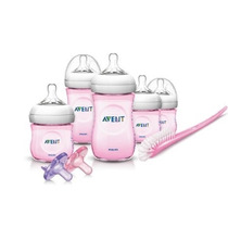 Philips Avent Natural Infant Conjunto De Iniciación Rosa