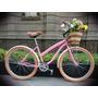 Bicicleta Retro O Vintage Smart R26 Rosa - Miel