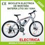 Bicicleta De Montaña Eléctrica 36v - 21 Velocidades Ecobici