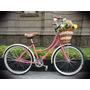 Bicicleta Retro O Vintage R24 Coral - Crema