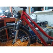 Bicicleta Urbana R26 Turbo Dama Color Rojo