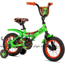 Bicicleta Para Niños Dino Power Color Verde