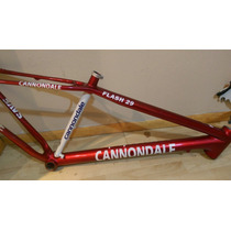 Cuadro Cannondale Flash Carbon 29 Rojo Con Blanco