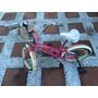 Bicicleta Niña Color Rosa Marca Turbo Rodada 16