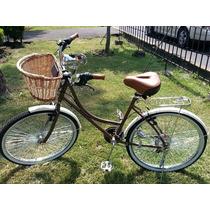 Bicicleta Retro Dama Y Caballero Cafe Varios Colores