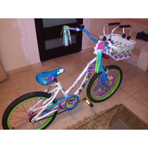 Bicicleta De Niña Mercurio Rin 20 Con Canasta