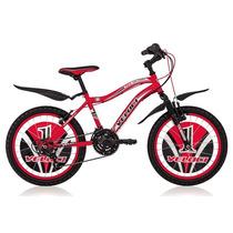 Bicicleta Infantil Veloci Rodada 20 Red Victory Negro/rojo