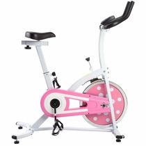 Bicicleta Fija Ejercicio Spinning Rosa De Sunny Estacionaria