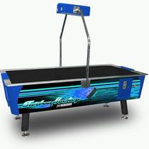 Mesa De Air-hockey Profesional Uso Rudo Blue - Envio Gratis
