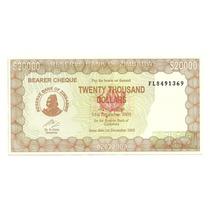 Billete Zimbabwe 20,000 Dolares (2003)