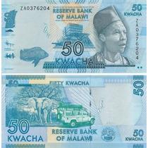 Billete Malawi 50 Kwacha (2012) Elefantes
