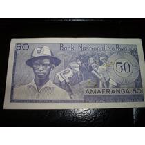 Billlete De Rwanda 50 Amafranga 1976