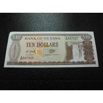Guyana Billete 10 Dolares Fecha (1989) Nuevo Unc