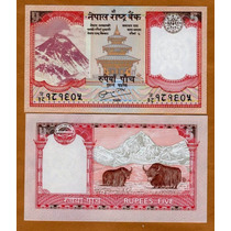 Billete Nepal 5 Rupias (2010) Monte Everest Dmm