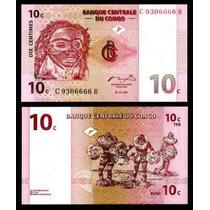 Congo 10 Centimos 1997 Mascara Fn4