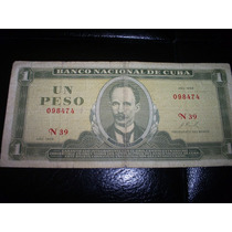 Billete Peso Cubano 1968
