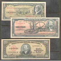 Coleccion De 3 Billetes Con La Firma Del Che