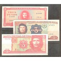 Coleccion De 3 Billetes Con La Imagen Del Che Che