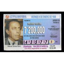 Billete De Lotería Manuel Gomez Morin