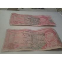 Billete De 20 Pesos De 1976 Y 1977