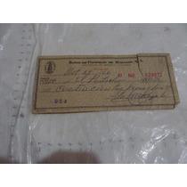 Cheque Del Banco De Comercio De Hidalgo , Año 1966 , Como Ap