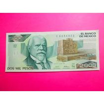 Billete Dos Mil Pesos Justo Sierra Nuevo Sin Circulár Crisp