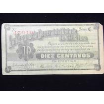 Billete De La Tesoreria General De Sinaloa 10 Centavos
