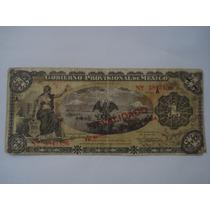 Billete 1 Peso Gobierno Provisional Revalidado En 1914