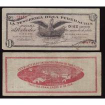 Si-coa-5 Billete De Coahuila De 10 Centavos