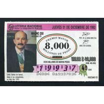 Billete De Loteria Carlos Salinas De Gortari