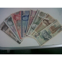 Colección 12 Billetes Mexicanos De $1.00 A $10,000 Unc!!!