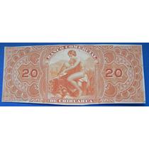 Billete Uniface 20 Pesos Banco Comercial De Chihuahaua
