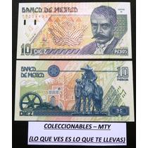Billete De 10 Pesos De Zapata Nuevo Sin Circular