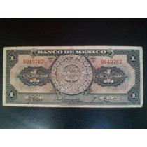 Billete De $1 Peso, Serie D, Calendario Azteca, Sin Fecha