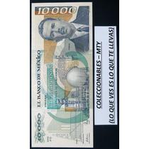 Billete De 10,000 Pesos Vareidad Palido (sin Circular)