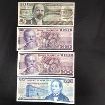 Coleccion De 4 Billetes Mexicanos