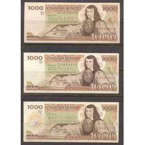 Colecc. 3 Billetes De 1000 Pesos (variedades) Sor Juana