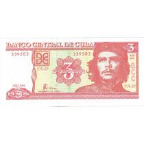 Cuba, Billete Del Che, Tres Pesos (variedad 3 Emision 2004)