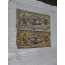 2 Billetes Gobierno Provisional De Mexico , Diferentes, 1