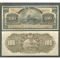 Bk-tam-27 Billete Del Banco De Tamaulipas De 100 Pesos