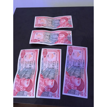 Lote De 5 Billetes Antiguos De 20 Pesos Morelos