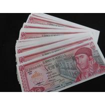 Billetes 20 Pesos Morelos Nuevos 25 Pzas Consecutivos