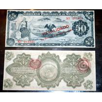 Doce Billetes Del Gobierno Prov México 50 Pesos Meant Condit